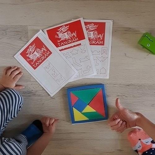 Hlavolam tangram pomáha rozvíjať osobnosť dieťaťa